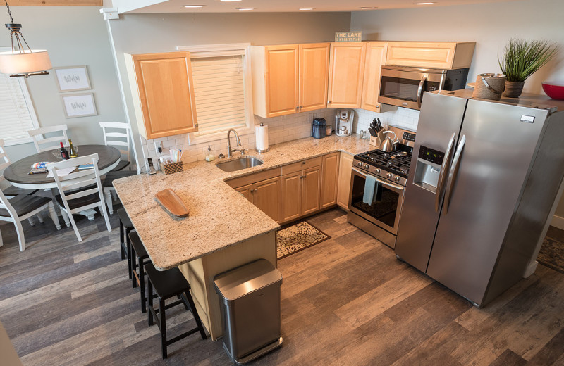 Rental kitchen at Vacation Rentals by