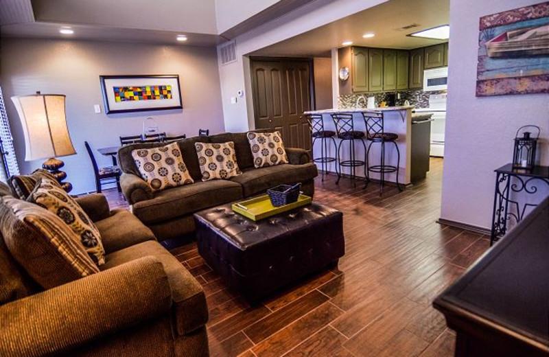 Rental living room at Lake Travis & Co.