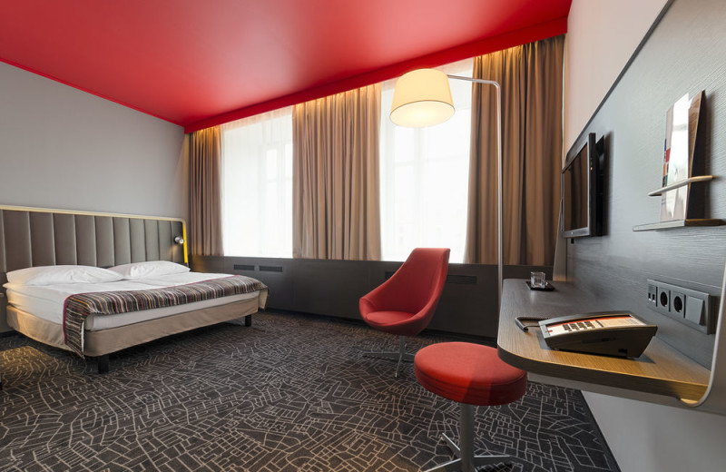 Guest room at Central Hotell.