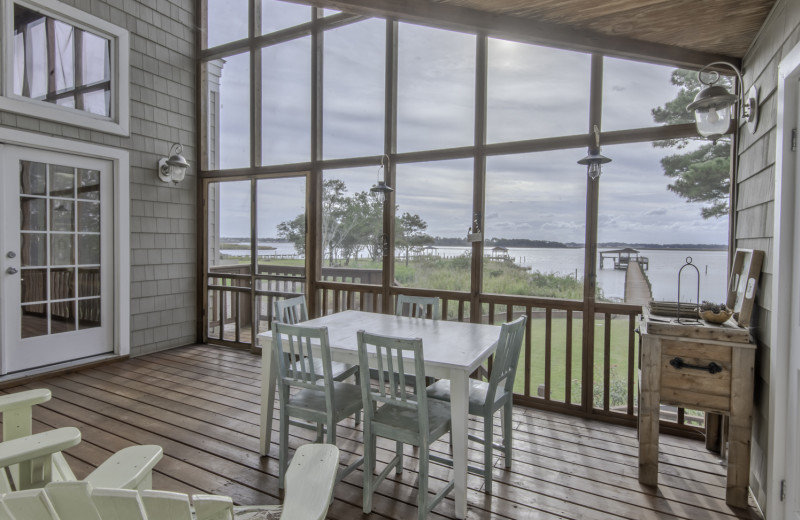 A big screened in porch area at our property 281-A