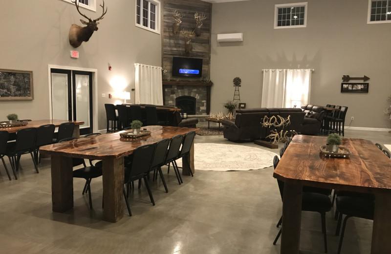 Living room at The Lodge at Windy Ridge.