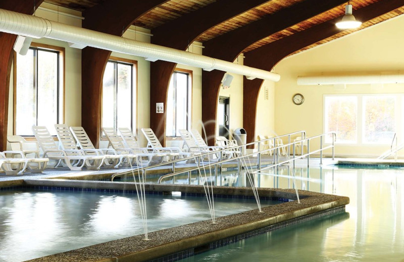 Indoor pool at The Golden Eagle Lodge.