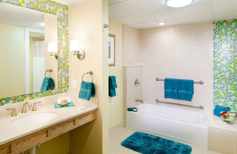 Guest Bathroom at Sea Crest Beach Hotel