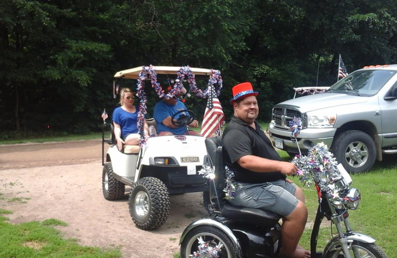 Fourth of July Parade at The Homestead at Ottertail RV Park and Resort.