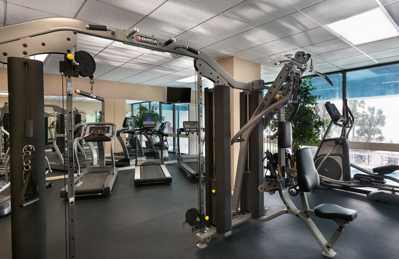 Fitness room at The Breakers Resort.