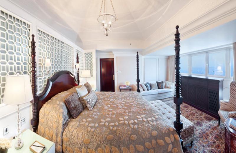Guest room at The Taj Mahal Hotel.