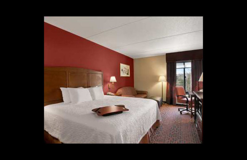 Guest room at Hampton Inn Erie-South.