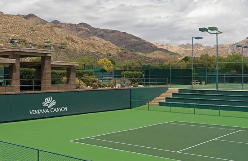 Tennis court at The Lodge at Ventana Canyon.