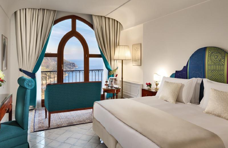 Guest room at Palazzo Avino.