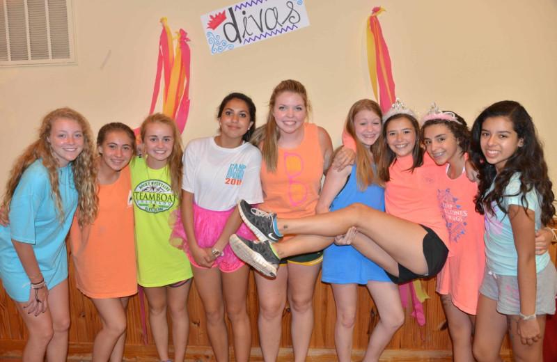 Girls group at Camp Balcones Spring.
