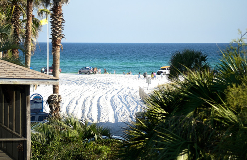 The beach at Beaches of South Walton Vacations.