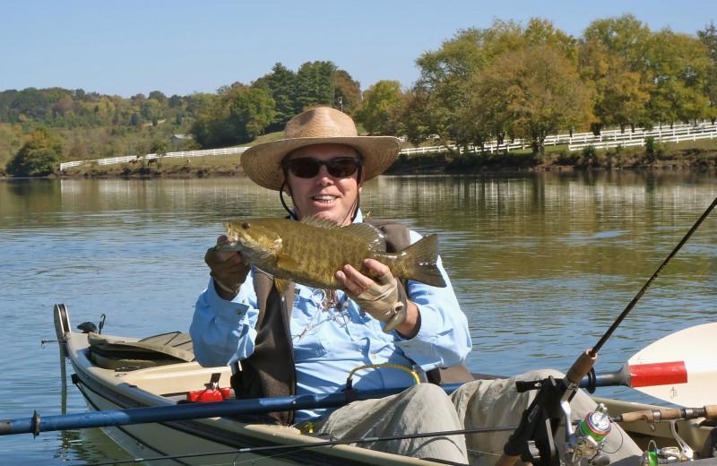 Fishing at Jackson Mountain Homes.