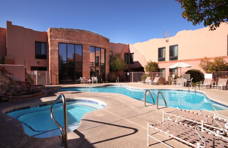 Outdoor pool at Hampton Inn Sedona.