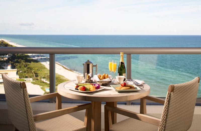 Guest balcony at Eden Roc Miami Beach.