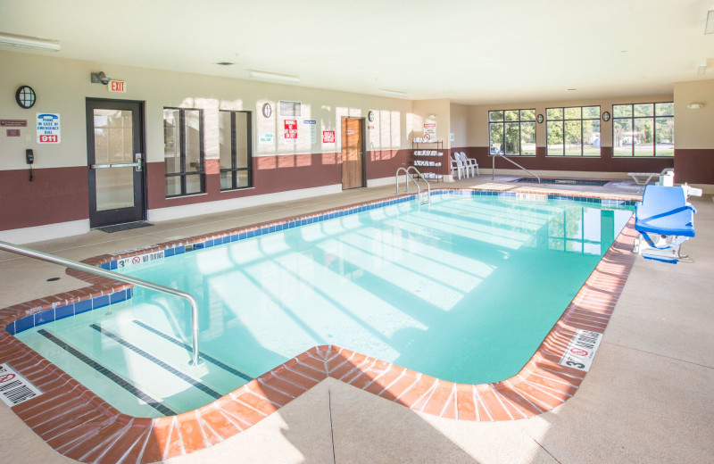 Indoor pool at Baymont InnSuites.