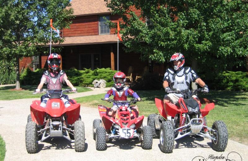 ATV riding at Harpole's Heartland Lodge.