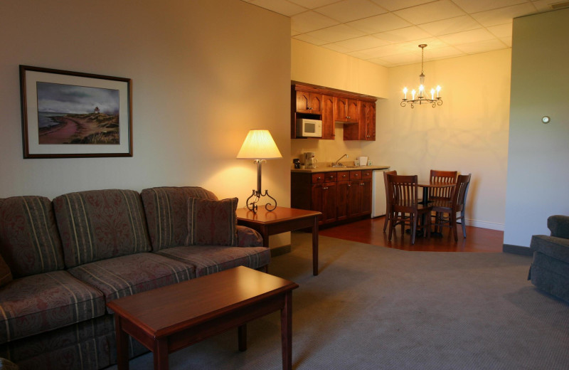 Guest room at Slemon Park Hotel and Conference Center.