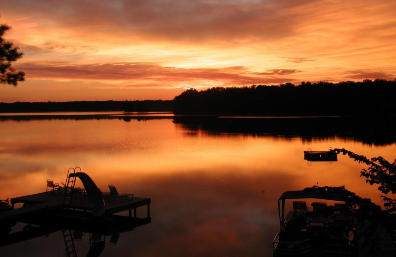 Sunset at Northland Lodge.