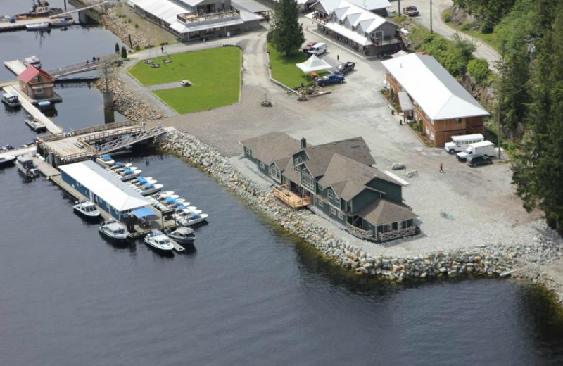 Aerial view at Shearwater Resort & Marina.