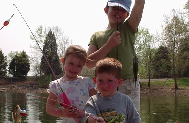 Fishing buddies at Big Bear Resort.