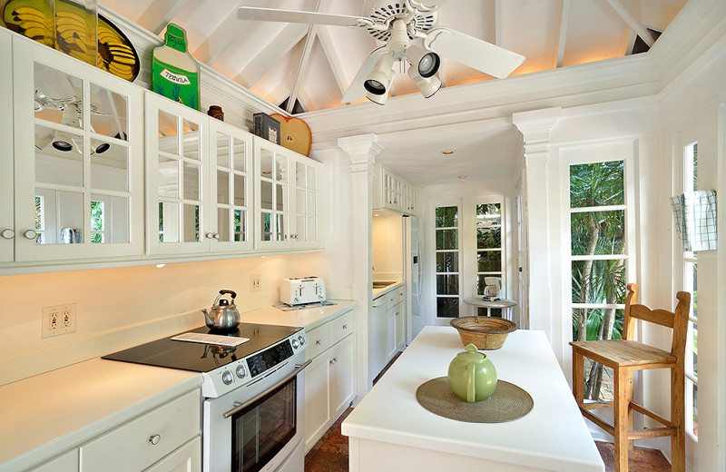 Rental kitchen at Rent Key West Vacations.