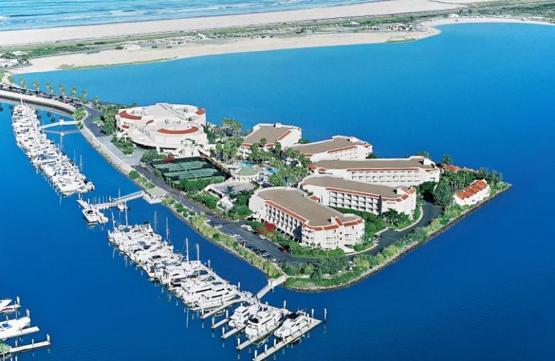 Aerial view at Loews Coronado Bay Resort.