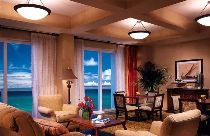Suite interior at Marriott Hollywood Beach.