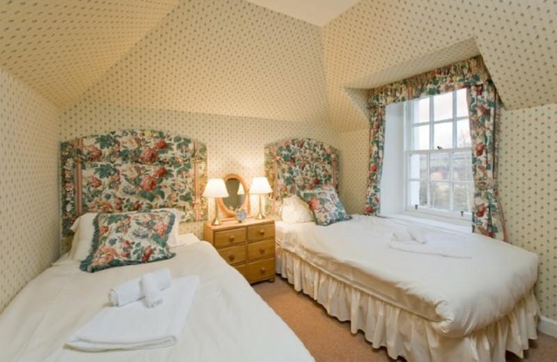 Cottage bedroom at Kinnaird Estate.