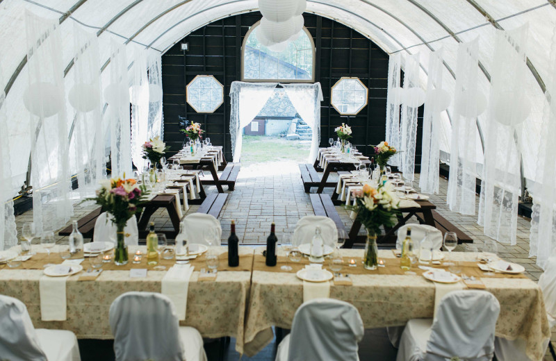 Decorate the Dome to create your wedding fantasy reception.