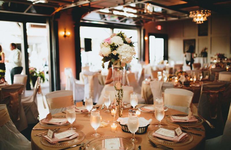 Wedding reception at Spicer Green Lake Resort.