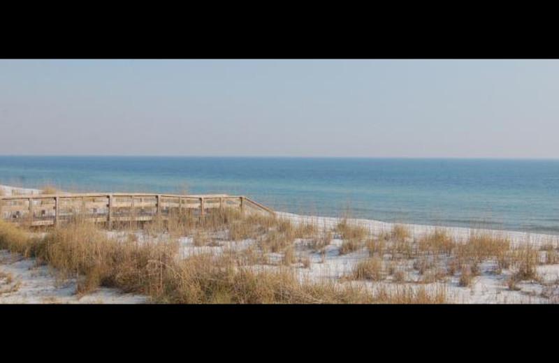 The beach at Pensacola Beach Vacation Rentals & Sales.