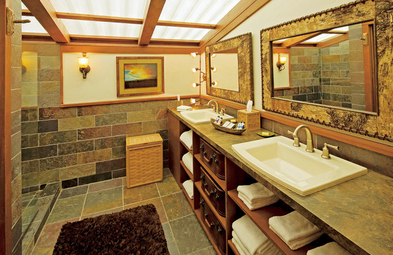 Tent bathroom at The Resort at Paws Up.