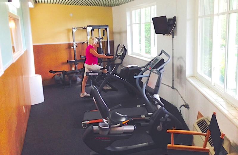 Fitness room at Winter Clove Inn.