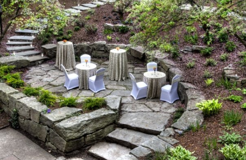 Outdoor reception at The Heritage Hotel.