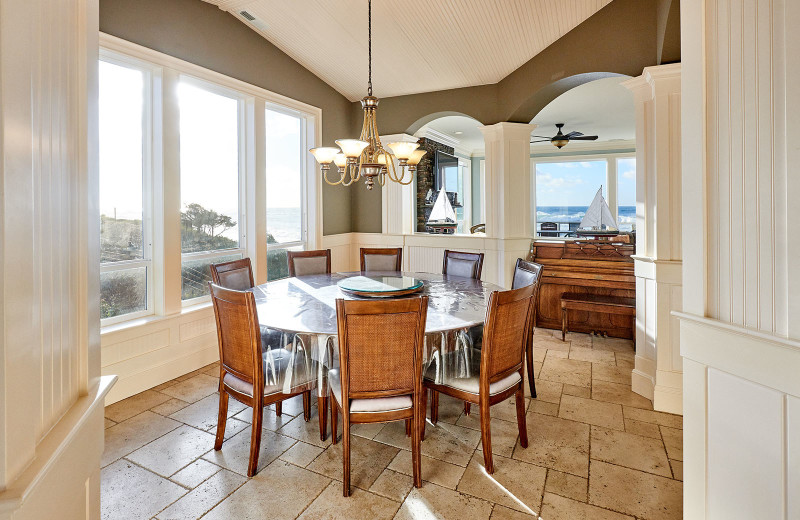 Dining room at Admiral's Beach Retreat.