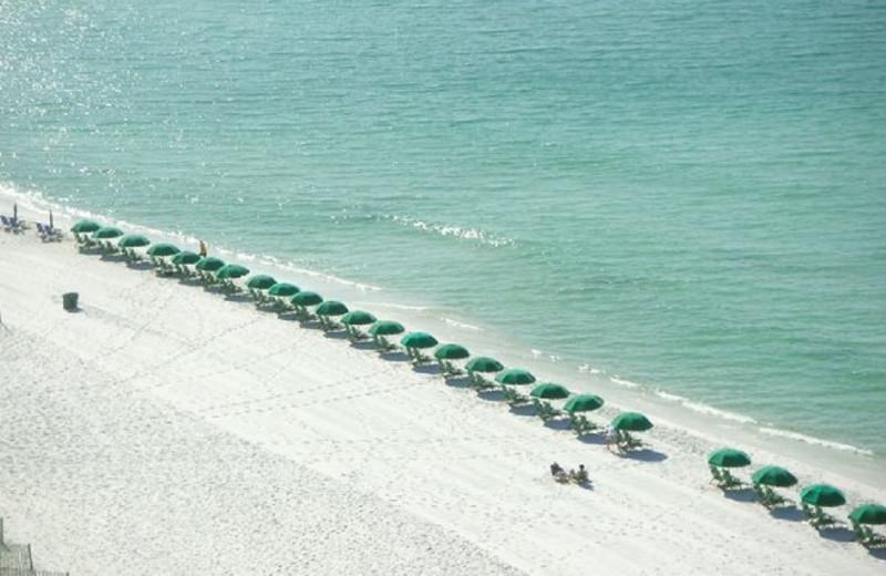 Aerial beach view at Newman-Dailey Resort Properties, Inc.