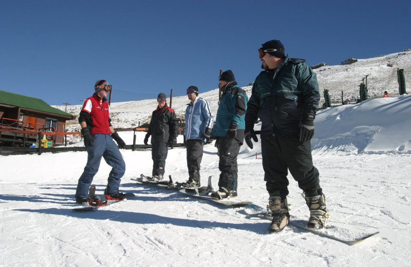 Snowboarding at Tiffendell Ski Resort