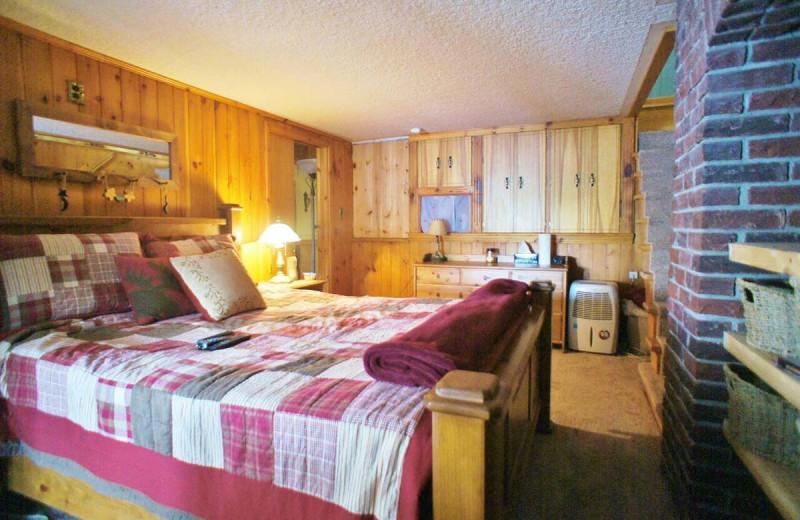 Rental bedroom at All-Season Cottage Rentals.