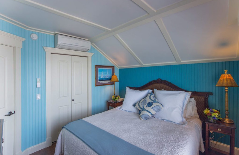 Guest room at Saybrook Point Inn & Spa.