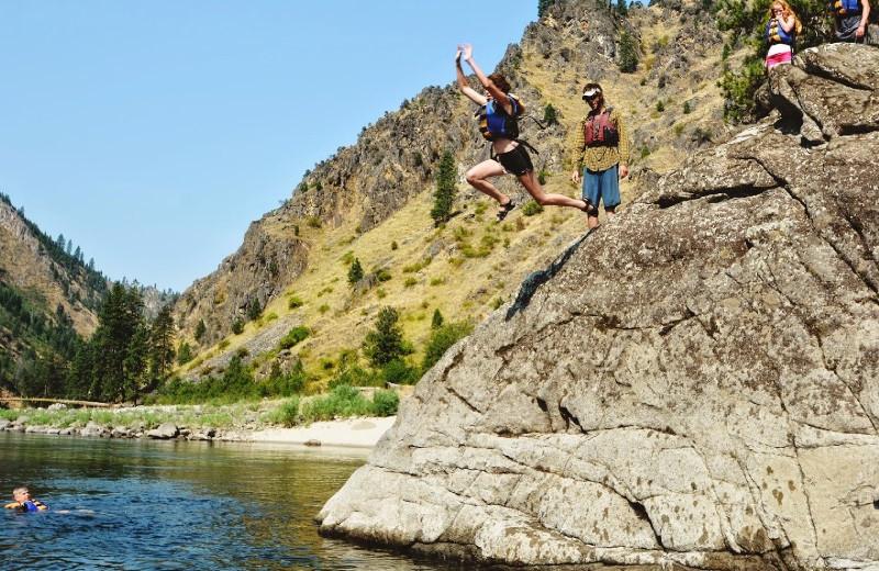 Swimming at Salmon River Tours.