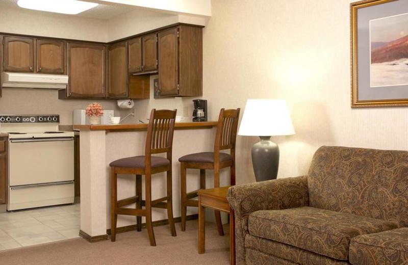 Suite kitchen at Sophie Station Suites.