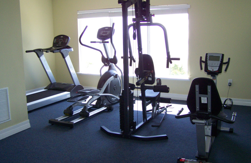 Fitness center at Madeira Bay Resort.
