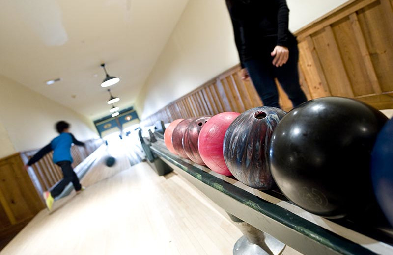 Bowling at The Whiteface Lodge.