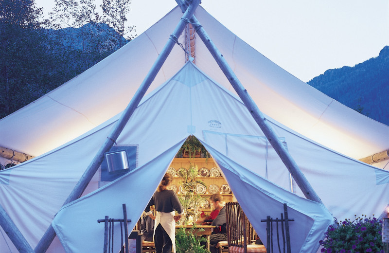 Dining at Clayoquot Wilderness Resort.