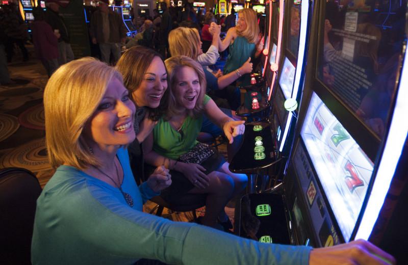 Slot machines at Golden Moon Hotel & Casino.