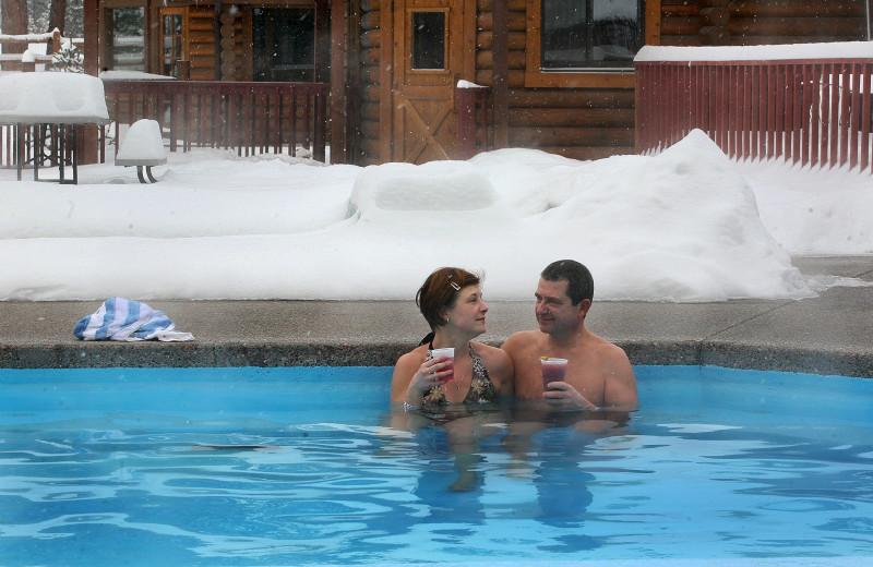 Couple in springs at Quinn's Hot Springs Resort