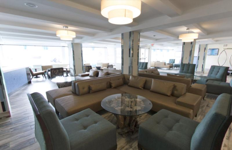 Lobby at Aqua Blue Hotel.