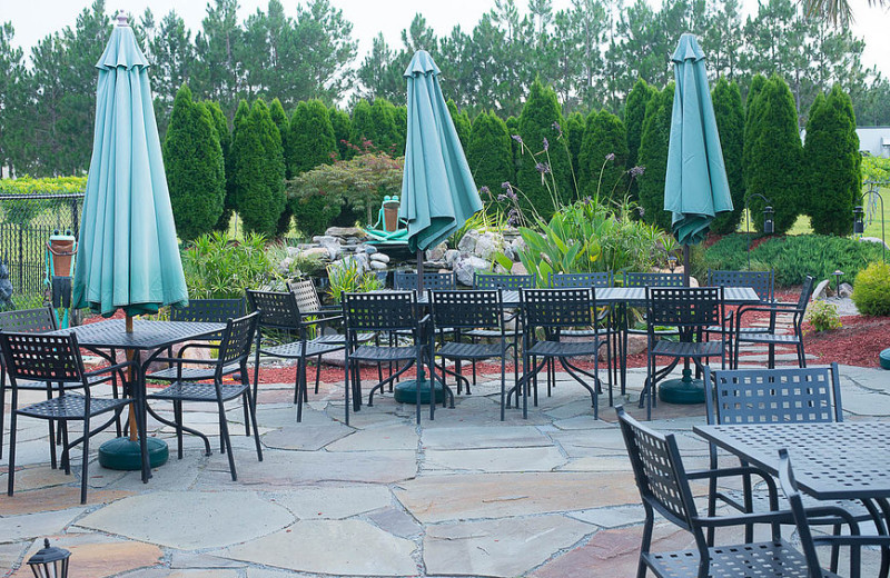 Patio at Cape Fear Vineyard and Winery.