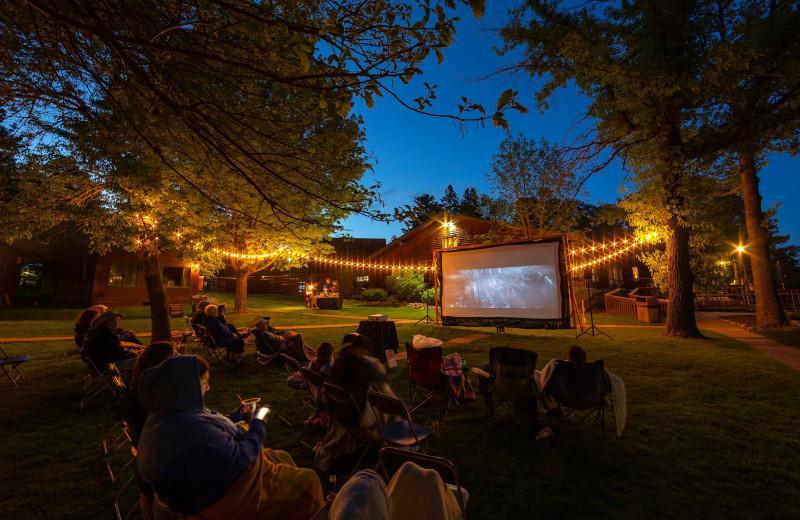 Movies at Ruttger's Bay Lake Lodge.