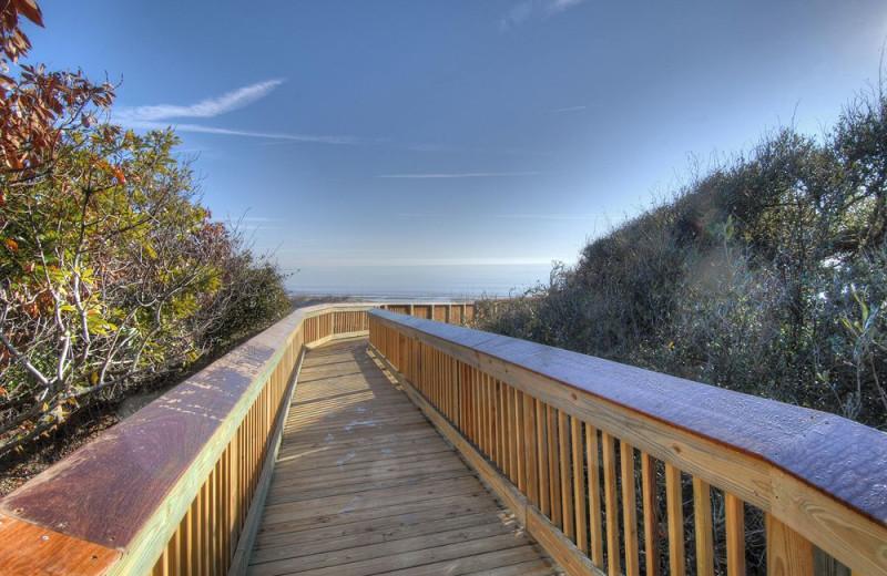 Boardwalk to beach at Hampton Inn & Suites Jekyll Island.